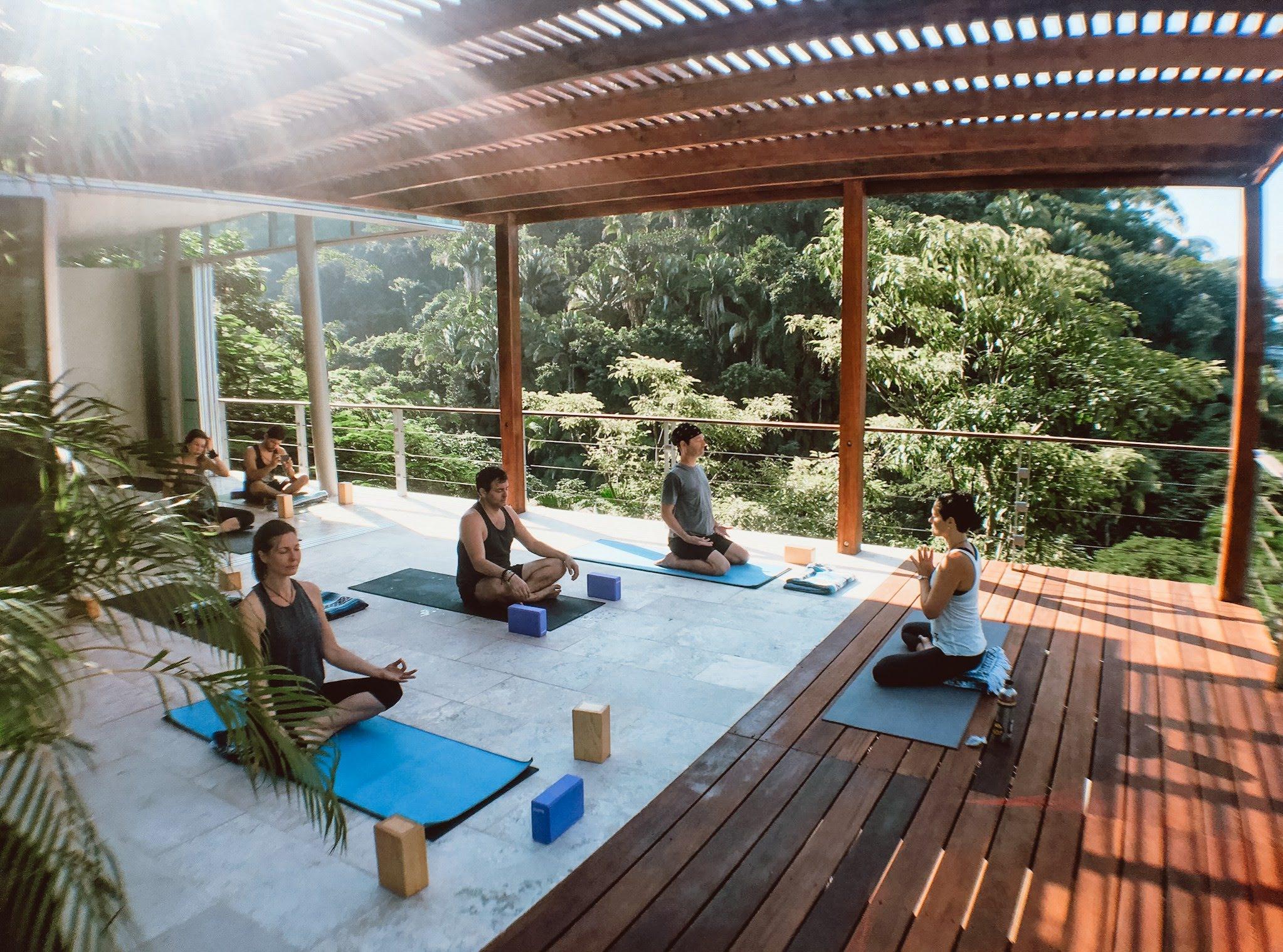 yoga al fresco - ocean and jungle views