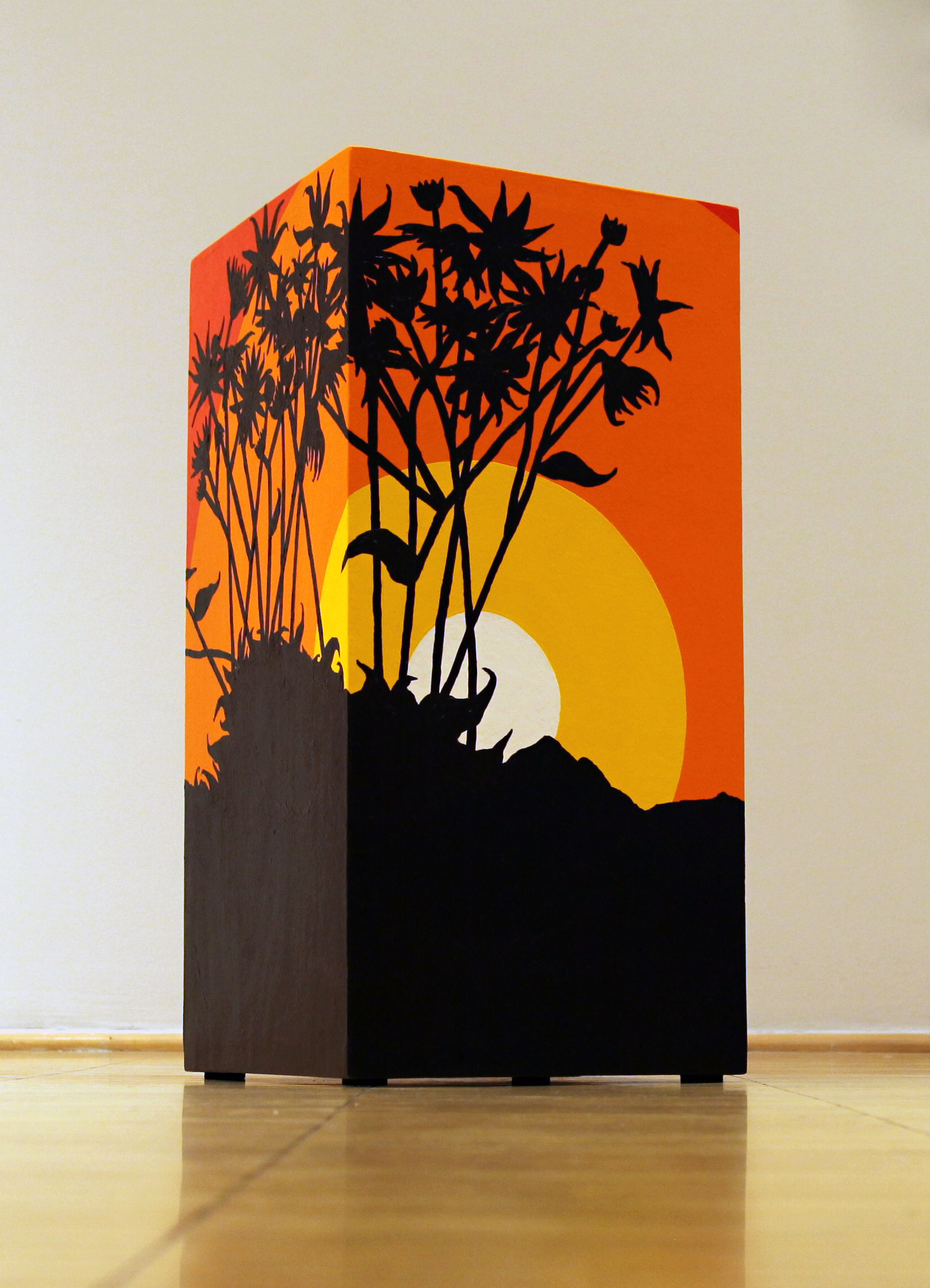 Brittlebush (@ Mt. Charleston), 2014  Acrylic paint on wooden form  28 1/2 X 6 X 6 in  View Artsy to purchase