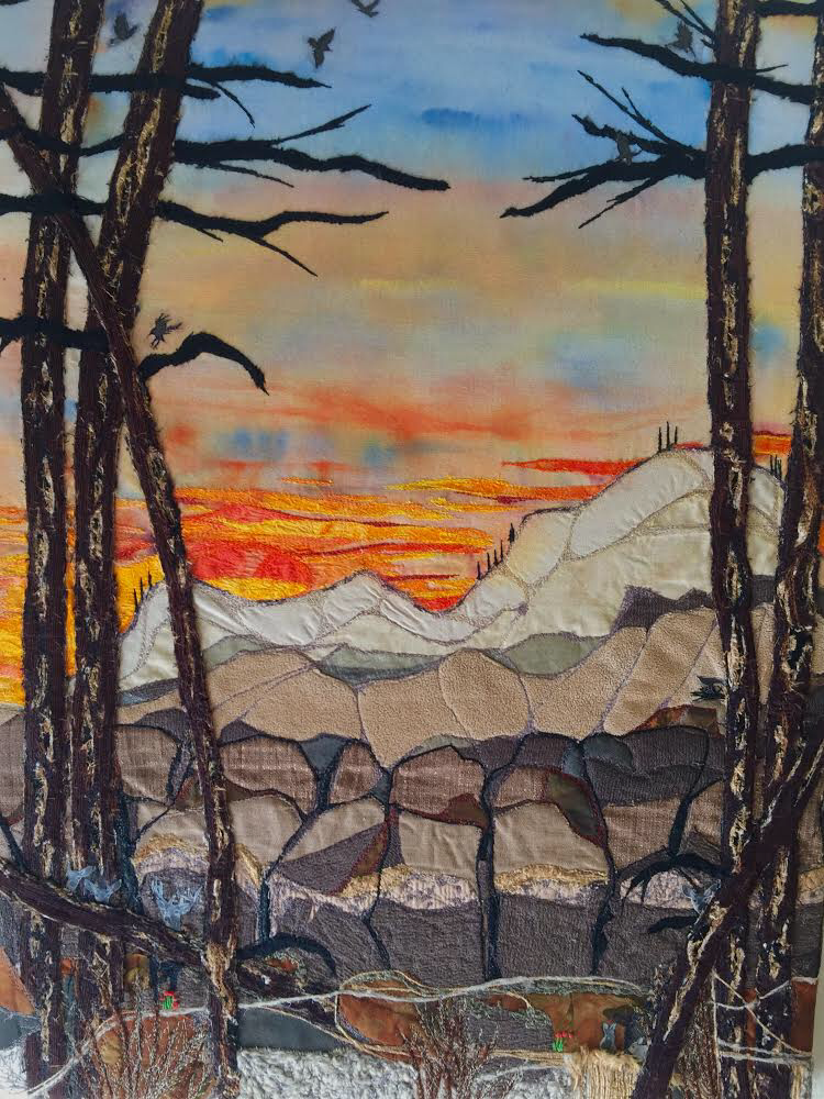 Los Alamos Sunset  , 2015  24 1/2 × 18 in  $550