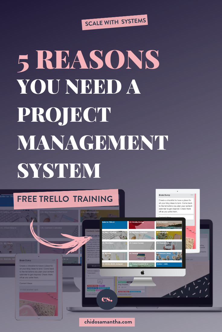 5 Reasons You Need A Project Management System
