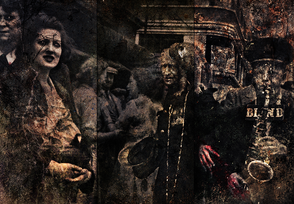 Parade in Petticoat Lane, 1955 (my mother holds her basket)  Frank Rodick, 2014