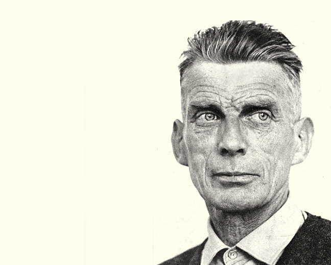 Samuel Beckett. Photograph by Mary Evans.