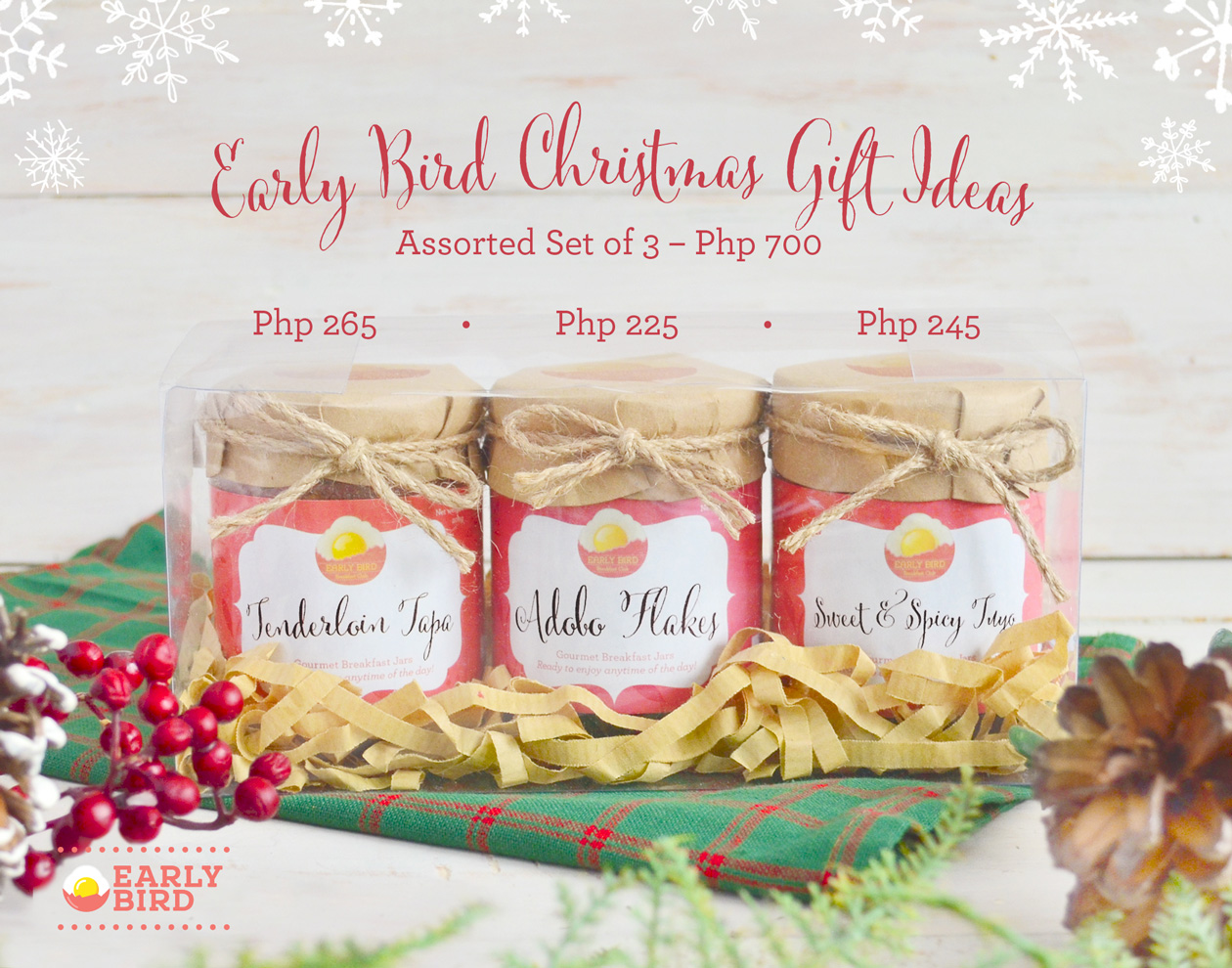 Early Bird Christmas Jars