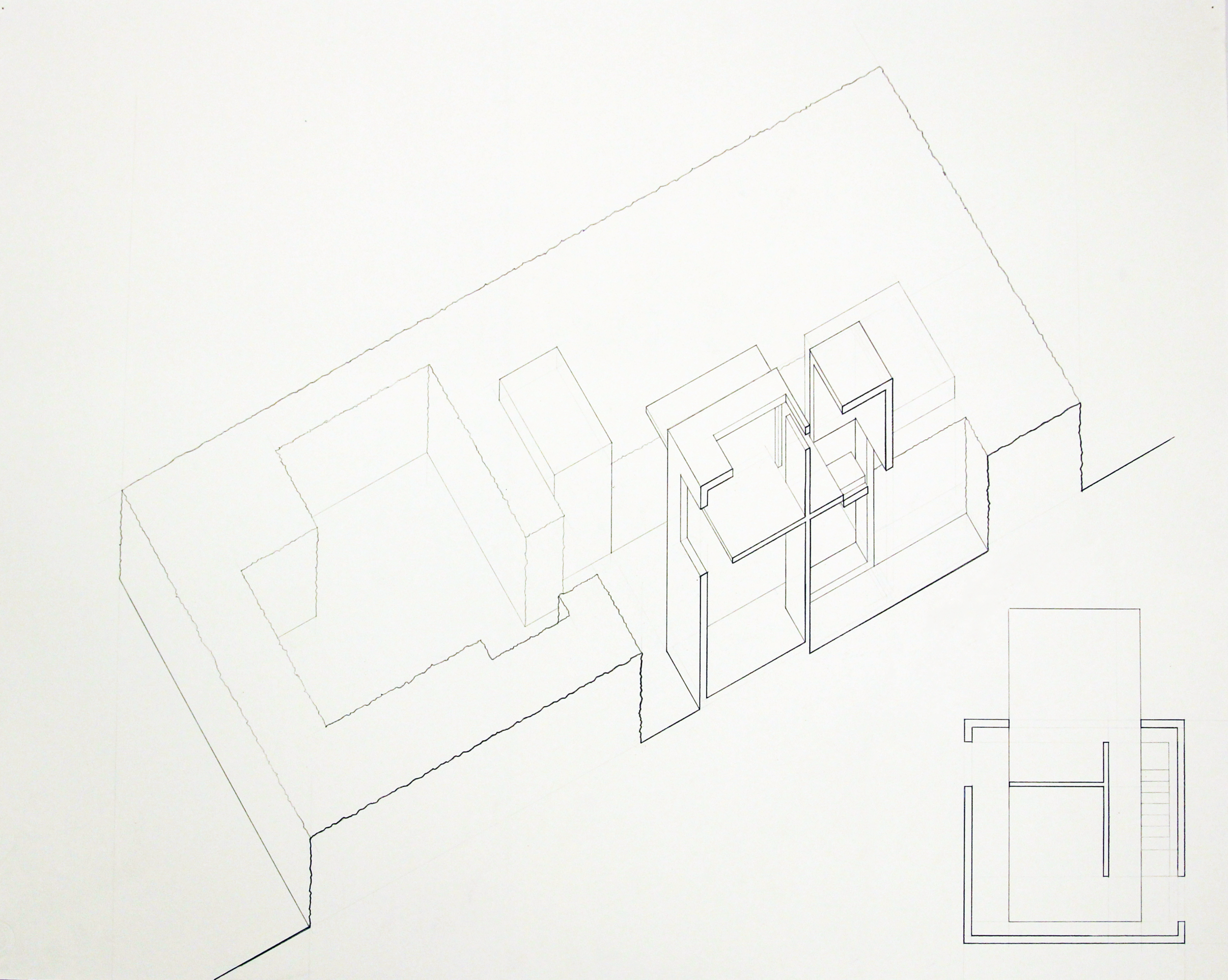 Isometric section and plan