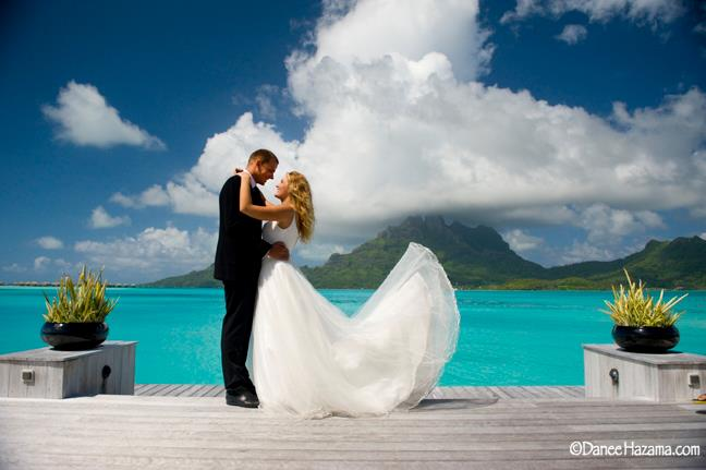 Breathtaking view of Bora Bora