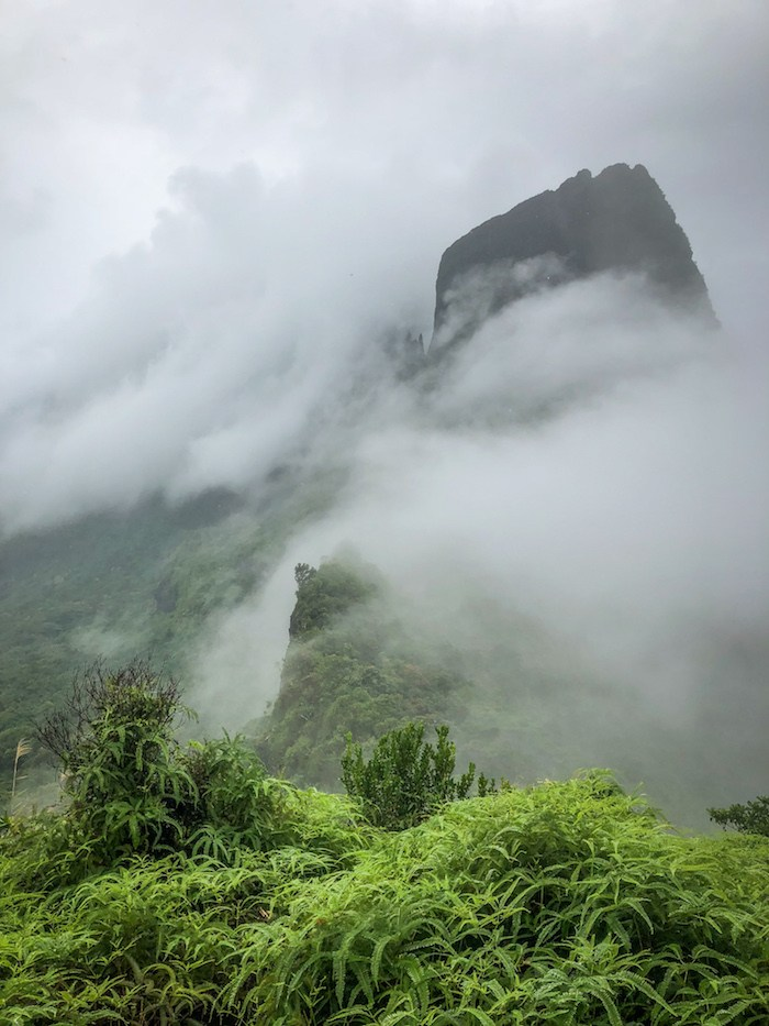 View from the Pass, Moorea.