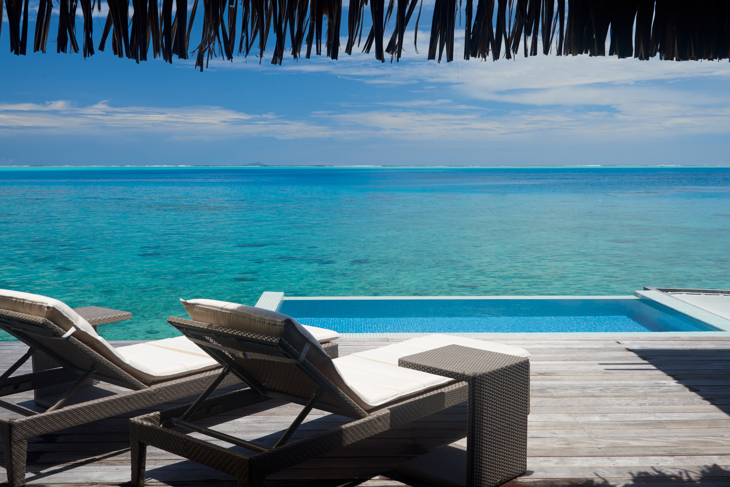This could be the view from your overwater bungalow in Bora Bora…