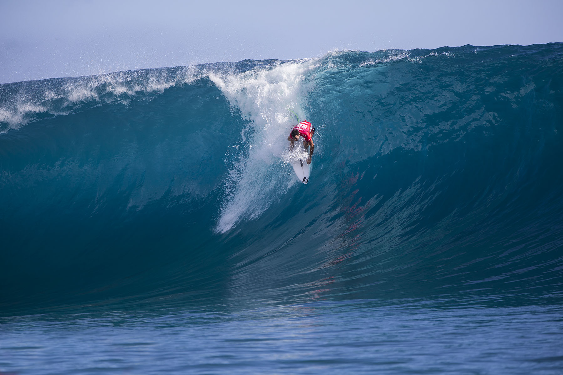 The Teahupo'o waves are famous for the Tahiti Pro Surf competition.