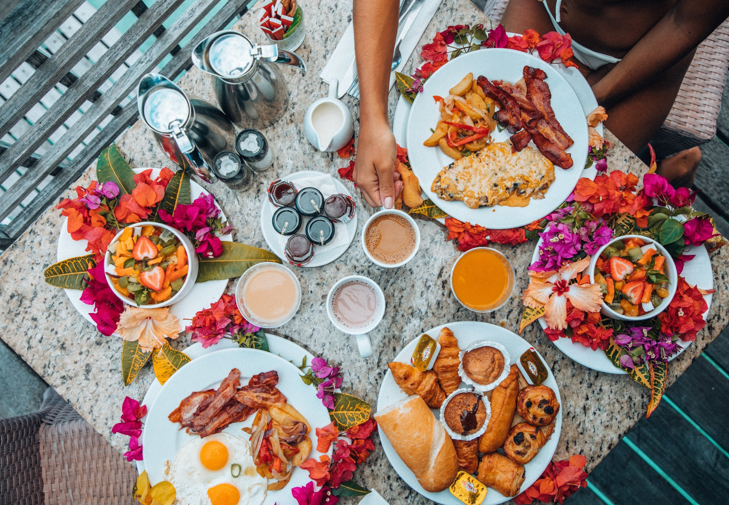 A traditional Polynesian breakfast