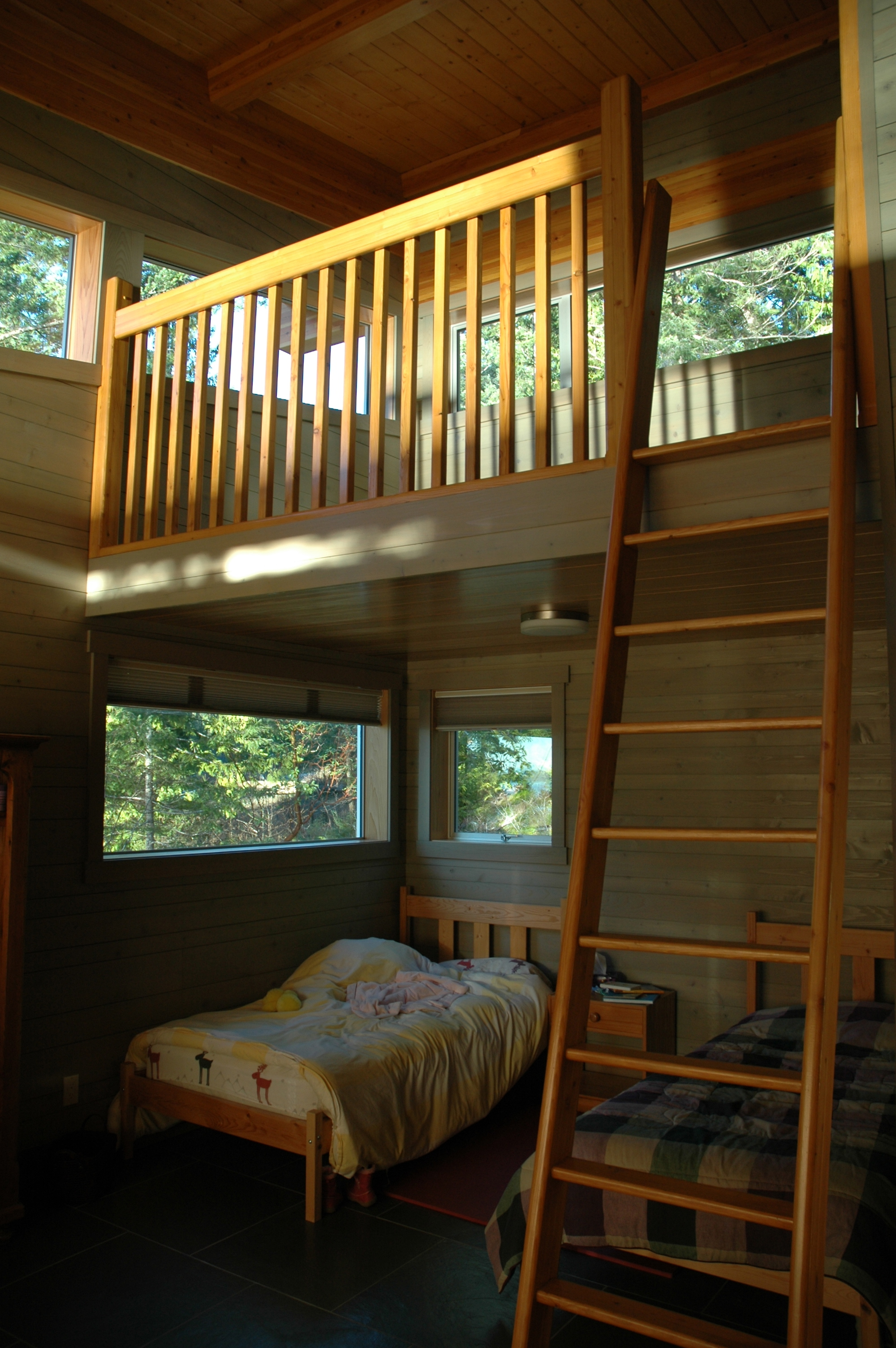 Kids bedroom with loft