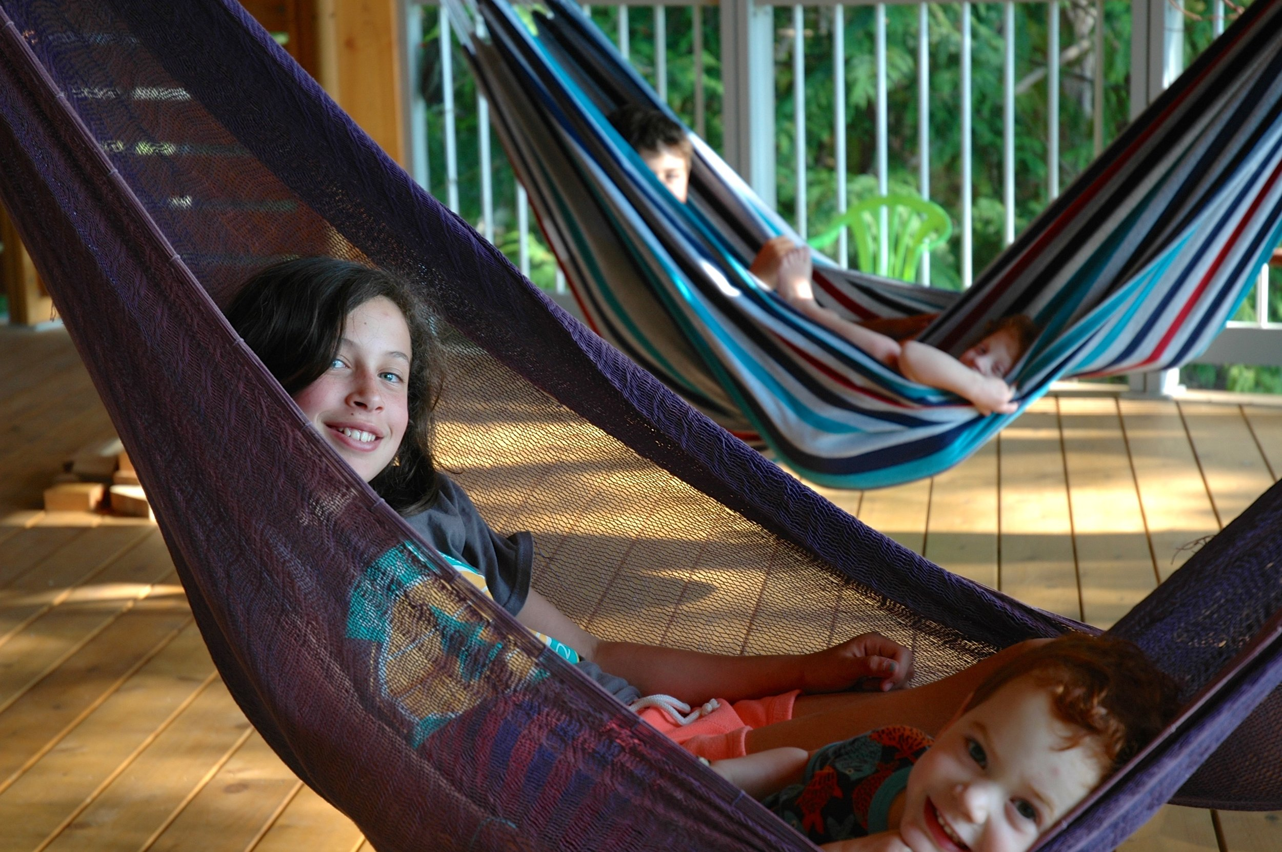 Hammock time on the downstairs deck