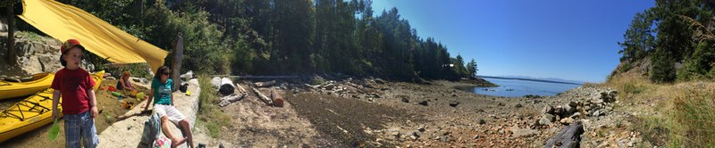 Panorama on a very low tide