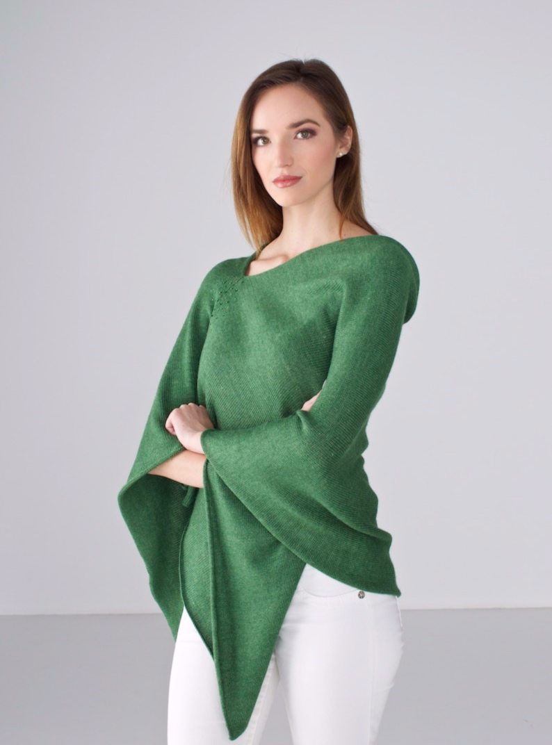 Basil Poncho with Crystals