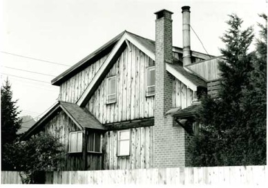 View of Navvy Jack House, located on the Ambleside waterfront, West Vancouver.