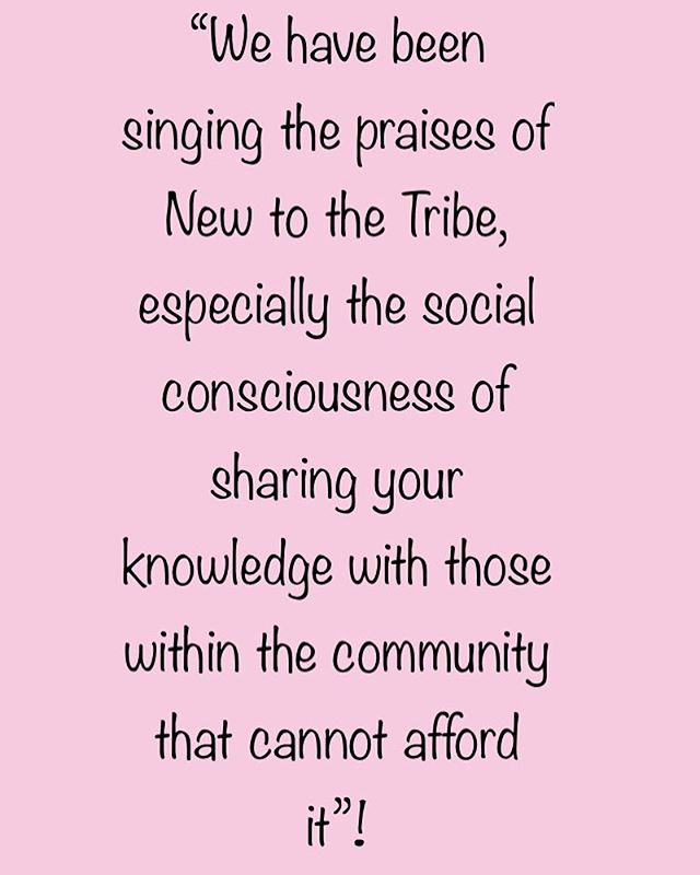 We love that our customers love to give back! By choosing New to the Tribe, your helping support those within the community who cannot afford childbirth education!  #happycustomer #givingback #sharethelove #community #choice #education #socialconsciousness #newtothetribe