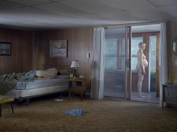 Pregnant Woman on Porch , 2013, Gregory Crewdson