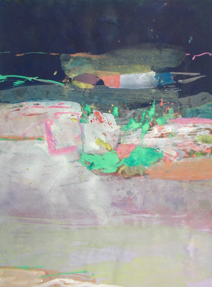 Untitled , c.1960, 21 1/4 X 12 inches, gouache, casein and watercolor on paper, Saul Leiter