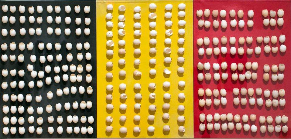 Marcel Broodthaers,  Sans titre (triptyque),  1965-1966