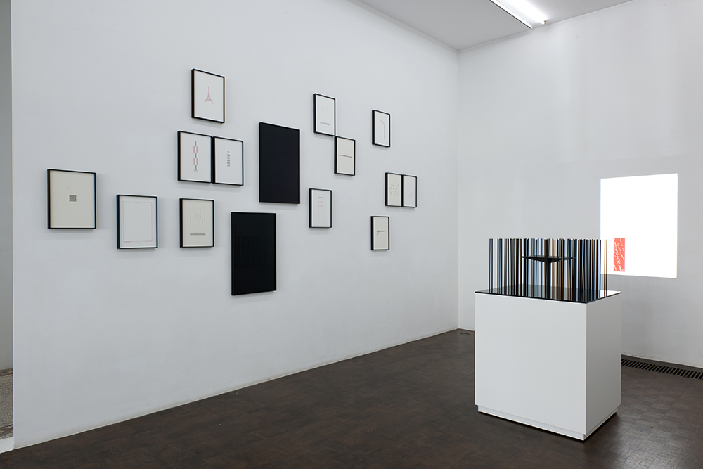 Jorge Méndez Blake (vue d'exposition)  Apollinaire's Misspell and Other Calligrams , 2017