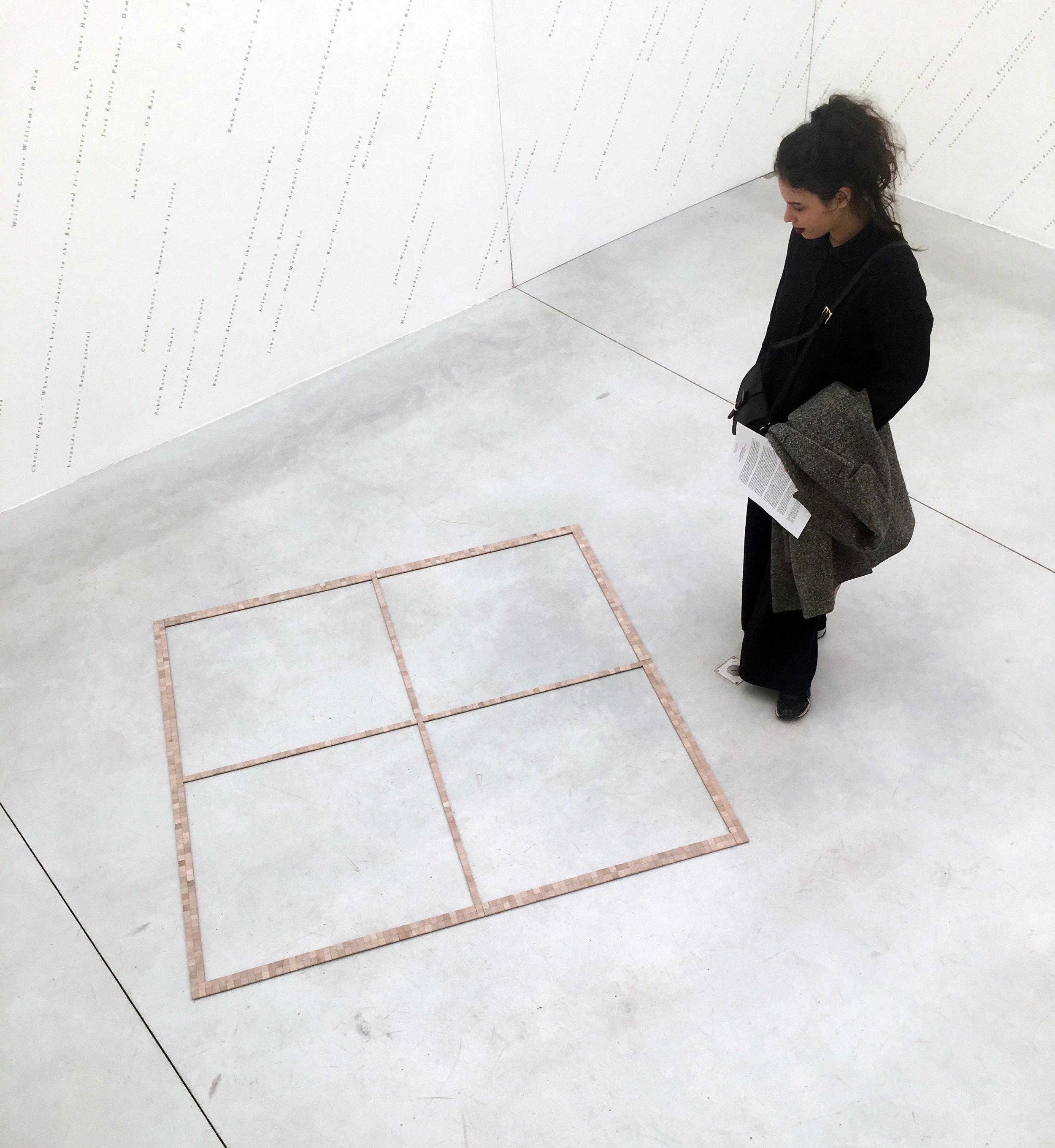 Jorge Méndez Blake (vue de l'exposition)  Word/Window II , 2017