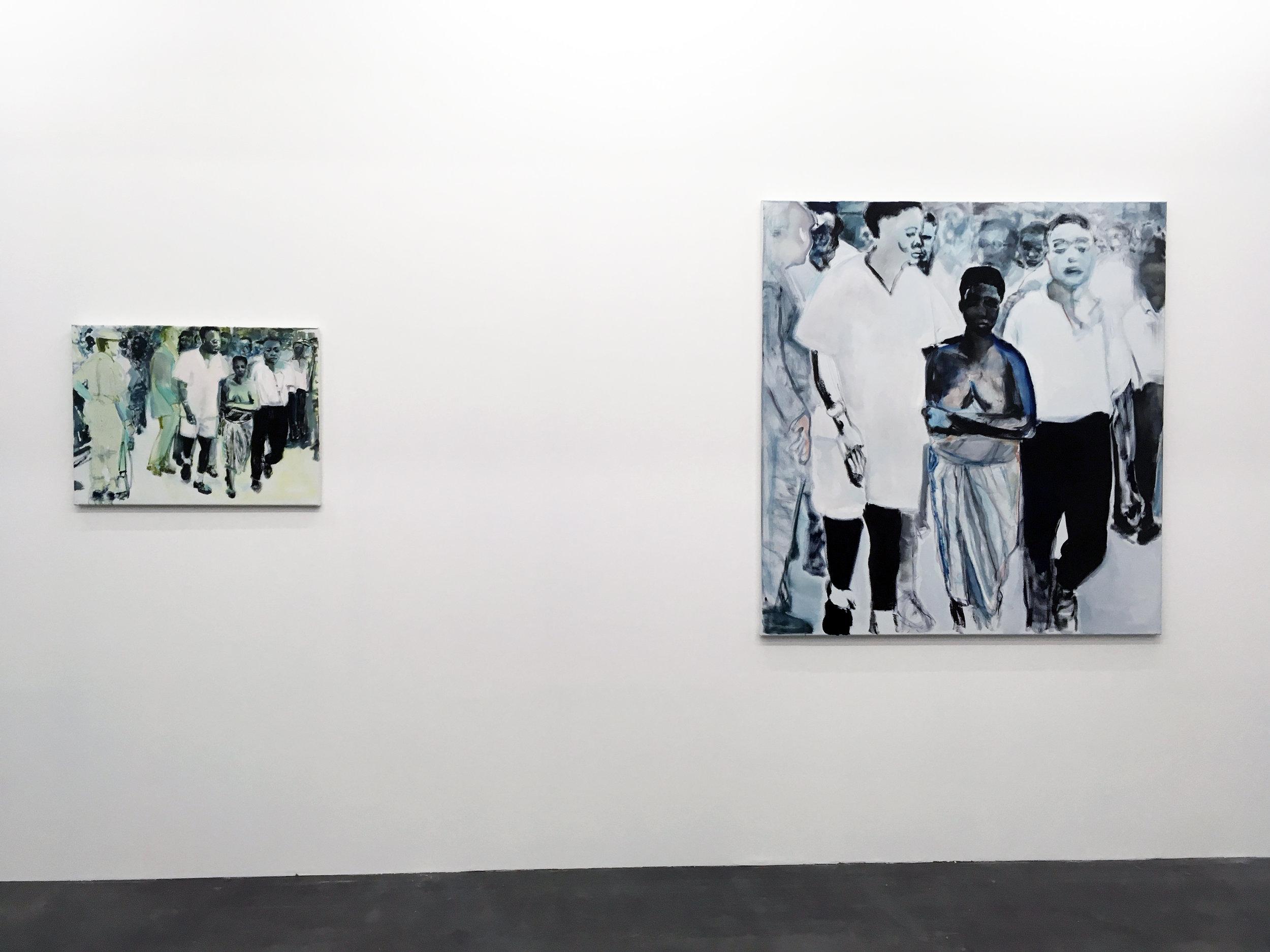 Marlene Dumas,  The Widow , 2013.  Le Musée Absent,  WIELS, vue d'exposition.