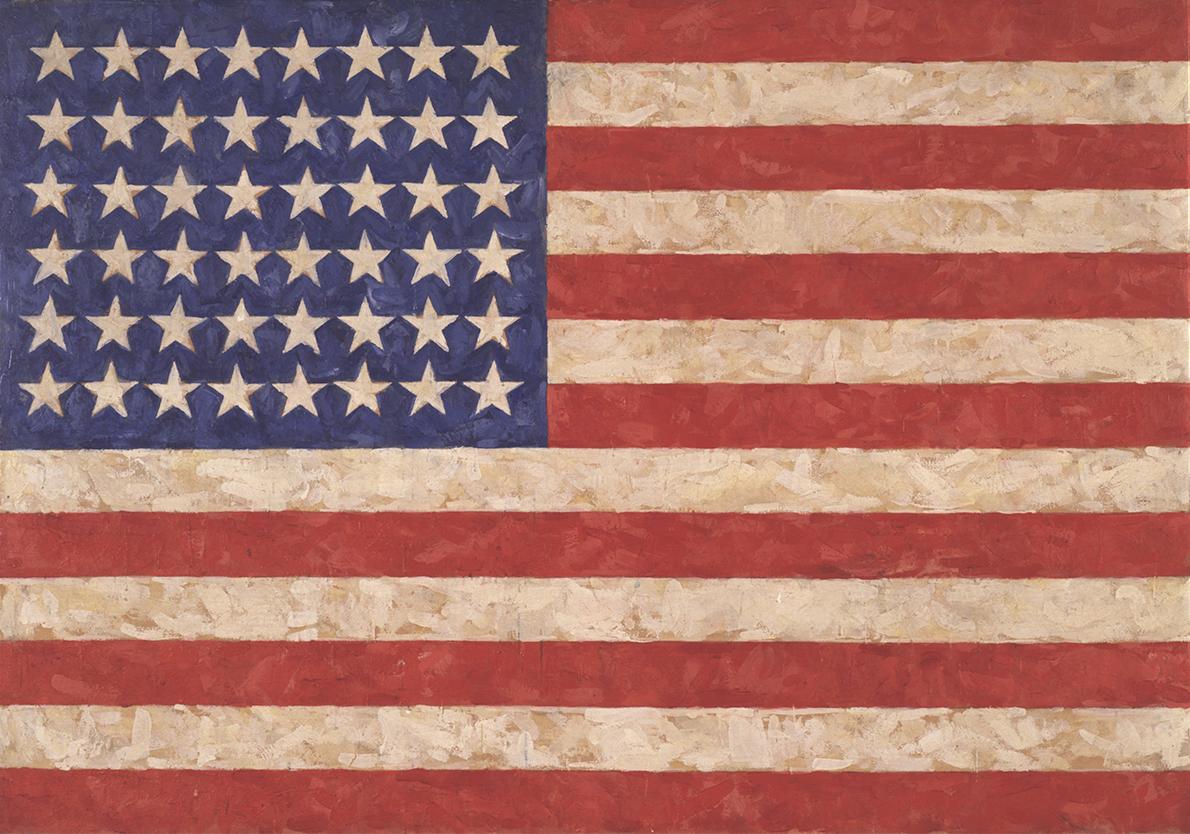 Jasper Johns, Flag, 1958