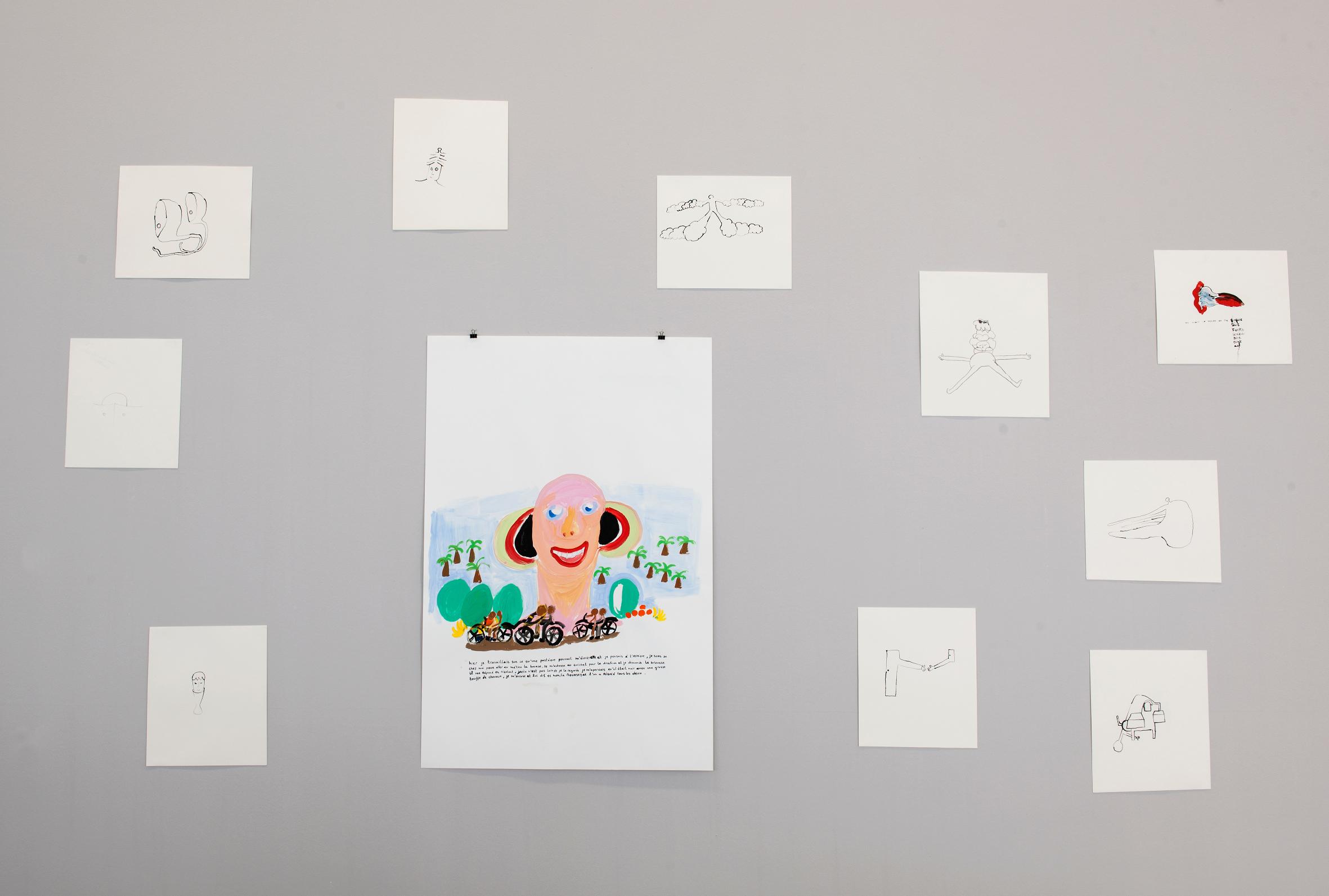 MAC's, Vue de l'exposition Ritournelle Anne-Marie Schneider © Philippe De Gobert