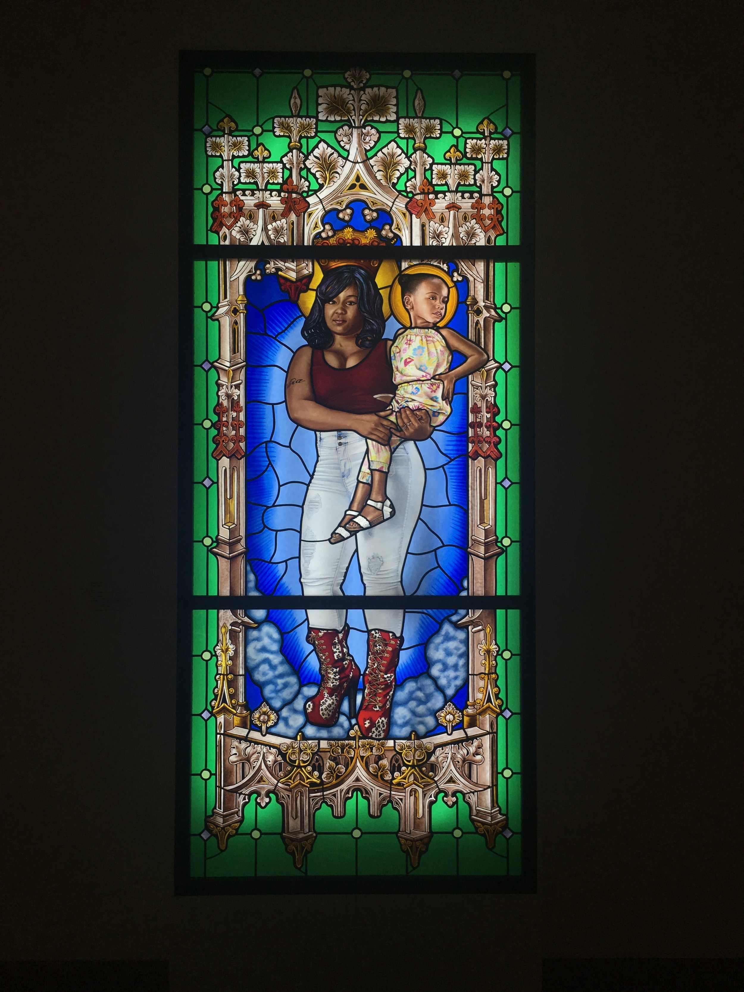 Kehinde Wiley, Saint Mary, 2016