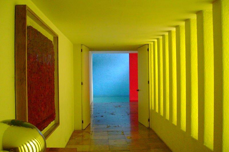 Interior of Casa Gilardi, by Luis Barragan