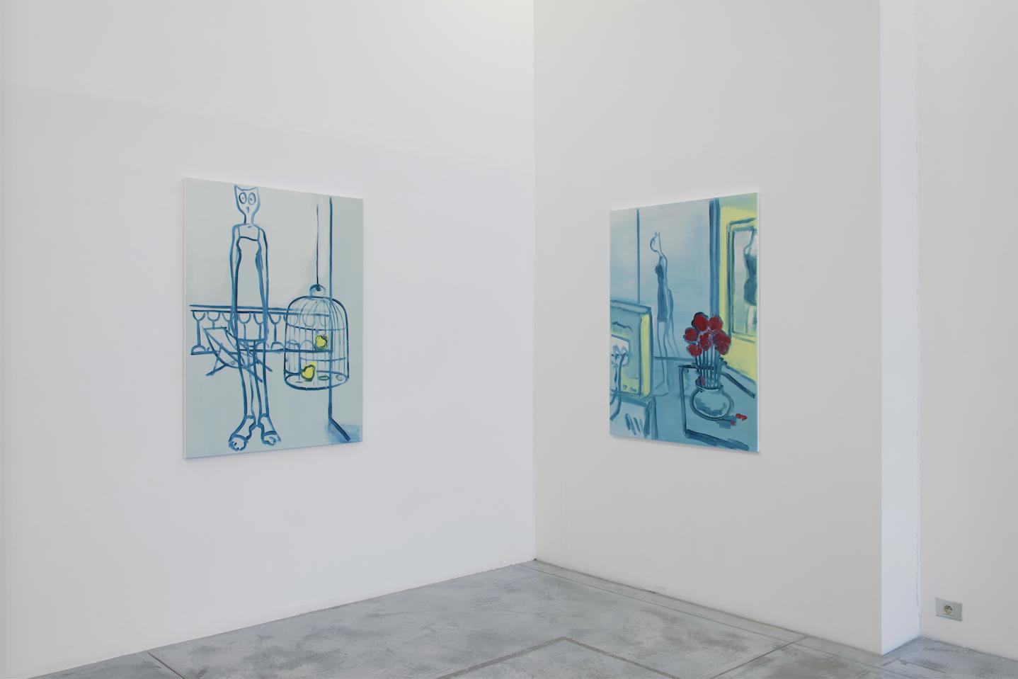 Alain Séchas, 'MAJORETTE', vue d'exposition