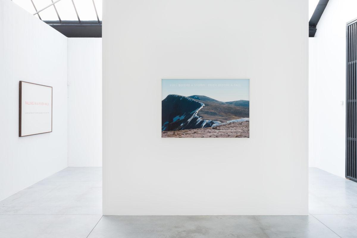 Richard Long, Along The Way, vue d'exposition, Fondation CAB