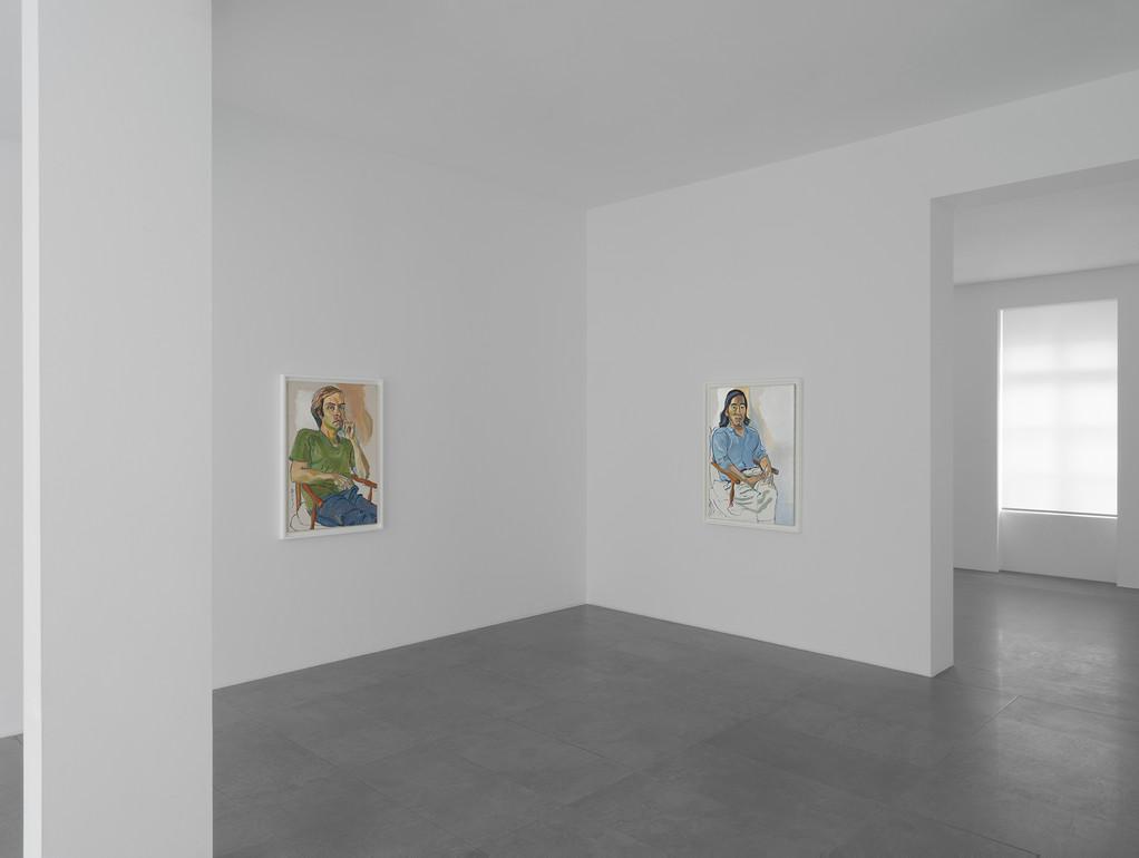 Alice Neel in New Jersey and Vermont,  vue d'exposition, Galerie Xavier Hufkens, vue d'exposition. Image courtesy: galerie Xavier Hufkens