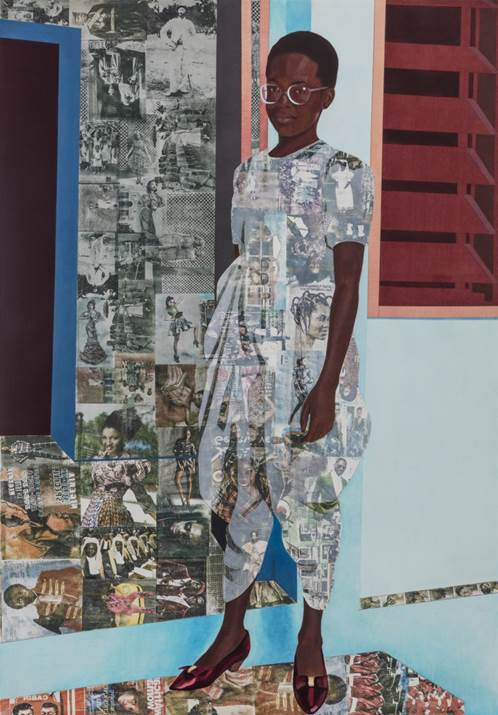 The Beautyful Ones by Njideka Akunyili Crosby, 2018.Njideka Akunyili Crosby © Njideka Akunyili Crosby Courtesy the artist and Victoria Miro, London/Venice