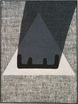 Pád II., 1987,  kombinovaná technika,  plátno  160×120 cm
