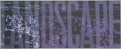 Krajina, 1993, akryl, plátno, 120×320 cm