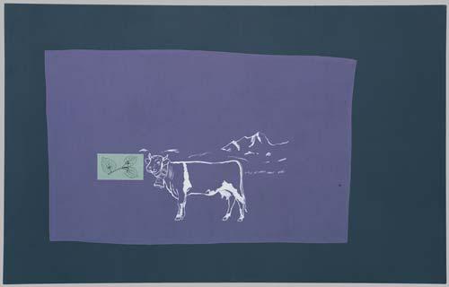 Milka, 1996, kombinovaná technika, 145×190 cm