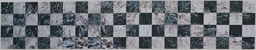 Jezírka, 1993, akryl, plátno, 100×400 cm
