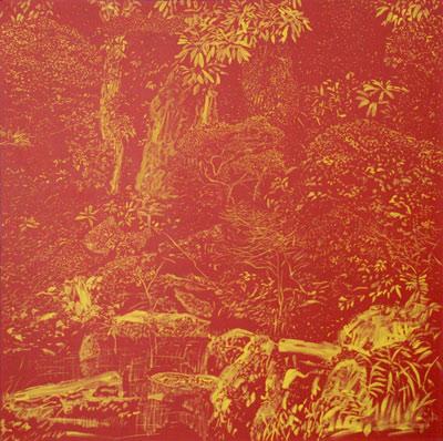Jezírko, 1996,  olej na plátně,  110×110 cm