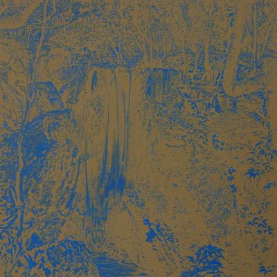 Vodopád, 1996,  olej na plátně,  110×110 cm