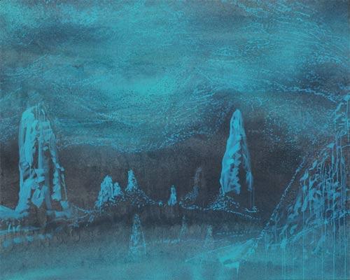 Krápníky, 2007, akryl na plátně, 200 x 250 cm