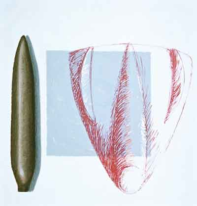 Torpédo, 2001, olej na plátně, 200×190 cm