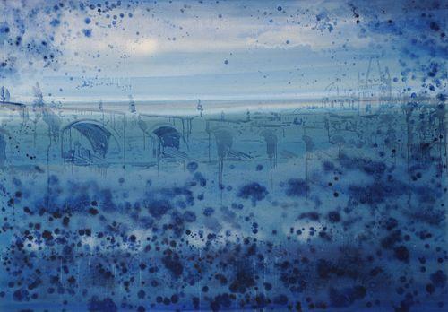 Z lodi bratří Formanů, 2009,  olej na plátně,  140 x 200 cm