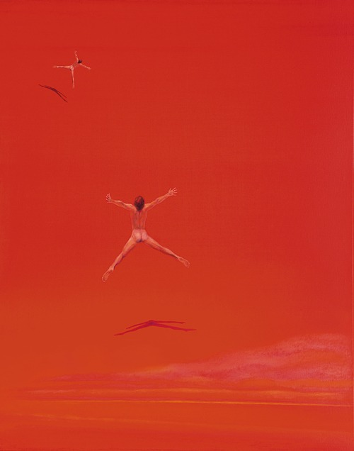Ostrovy věčné blaženosti VII., 2008, olej na plátně, 120 x 85 cm