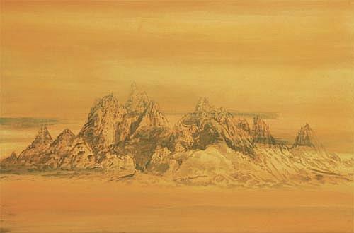 Neznámé pohoří, 2007, akryl na plátně, 200 x 300 cm