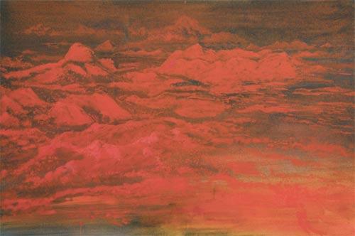 Na naší planetě, 2007,  akryl na plátně, 200 x 300 cm