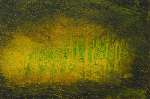 Býval tu žlutý les, 2007,  akryl na plátně,  200×300 cm