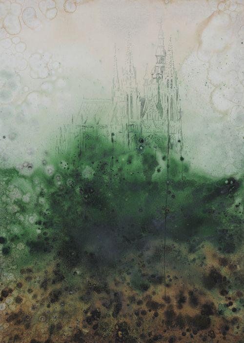 Gotika, 2009,  olej na plátně,  140 x 110 cm