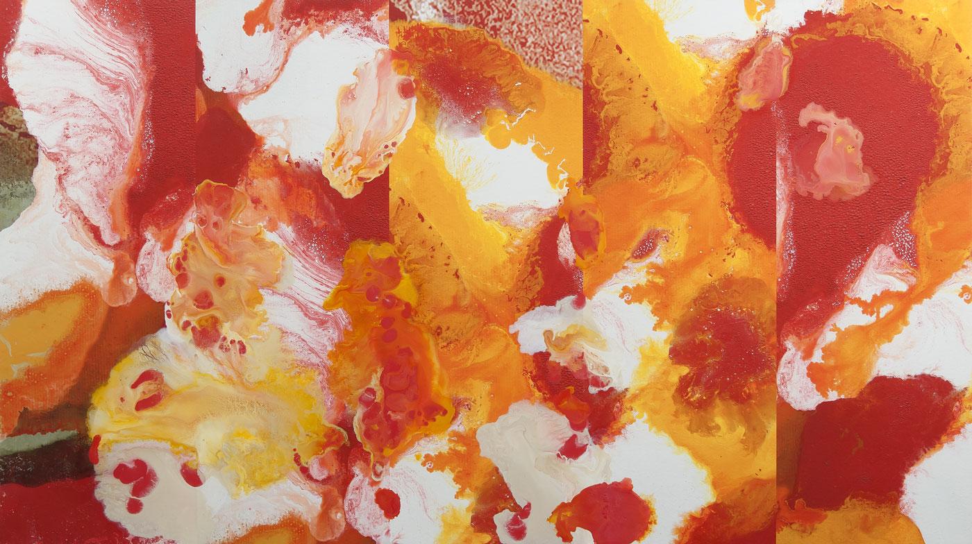 Capo Verde var.2, akryl a tisk na plátně, 140x250 cm, 2017