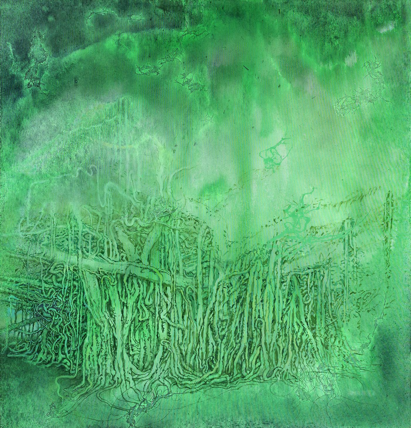 Džungle 1, 2014–18, akryl a olej na plátně, 180X170