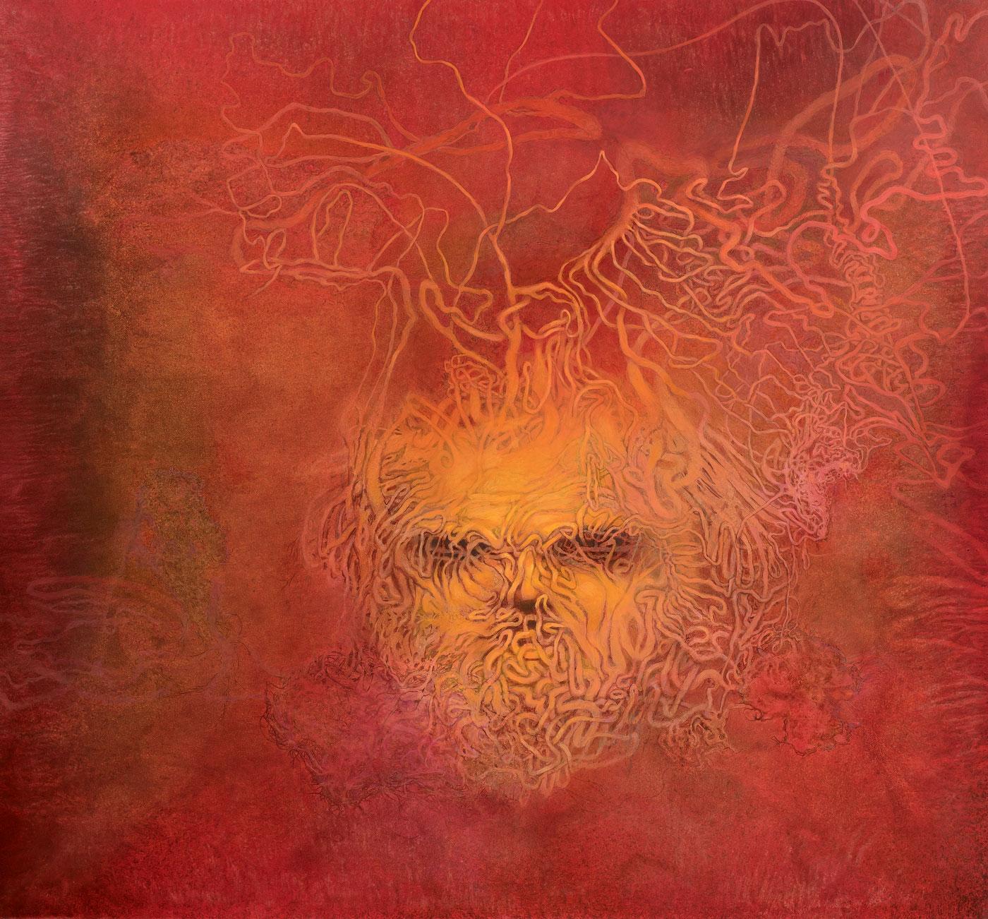 Přízrak, 2014-18, akryl a olej na plátně, 150X160